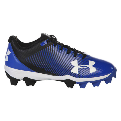 UNDER ARMOUR JR LEADOFF LOW RM BLACK/ROYAL BASEBALL CLEAT