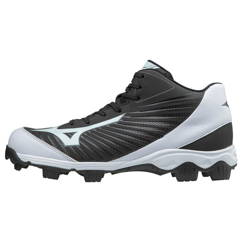 MIZUNO MEN'S 9 SPIKE ADVANCED FRANCHISE 9 BLACK/WHITE MID BASEBALL CLEAT