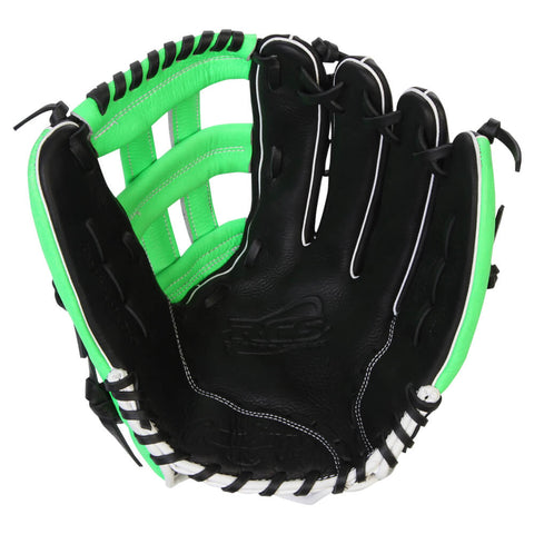 RAWLINGS RCS SERIES 13 GREEN H-WEB REG SOFTBALL GLOVE