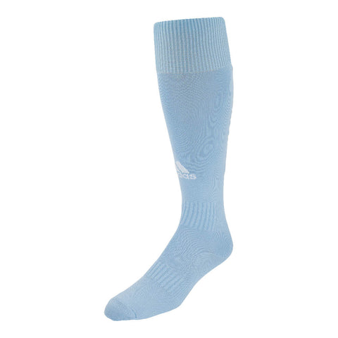 ADIDAS SANTOS 18 CLEAR BLUE MEDIUM SOCCER SOCK (7-8.5)