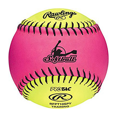 RAWLINGS 10 INCH PINK/OPTIC FPEX SOFT TRAINING SOFTBALL
