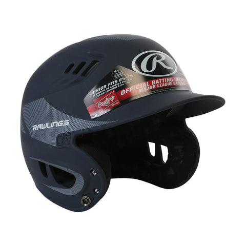 RAWLINGS VELO R16  JR BATTING HELMET CARBON MATTE NAVY