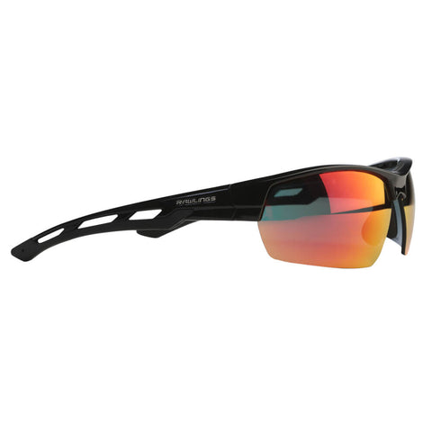 RAWLINGS SENIOR R-29 BASEBALL SUNGLASSES BLACK/RED