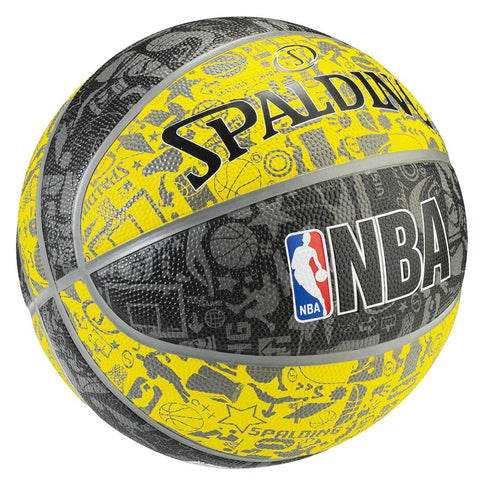 SPALDING GRAFFITI YELLOW/BLACK SIZE 7 BASKETBALL