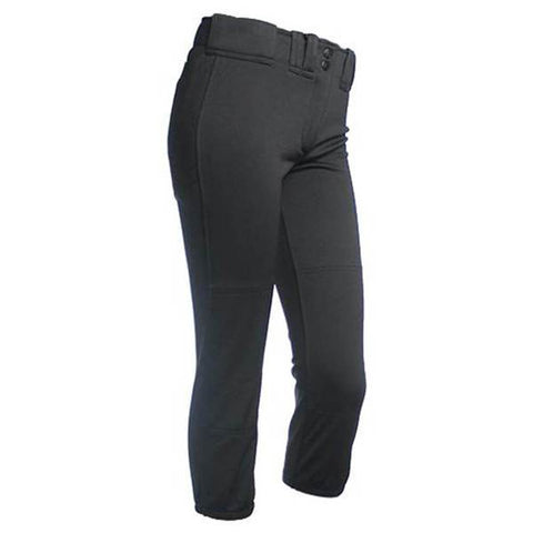 RIP-IT GIRLS CLASSIC LARGE BLACK  BASEBALL PANT