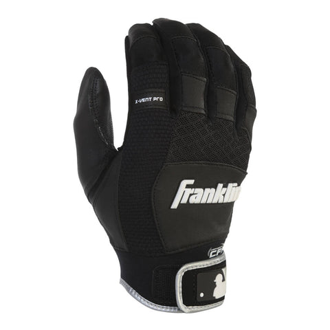 FRANKLIN YOUTH BATTING GLOVE X-VENT PRO BLACK