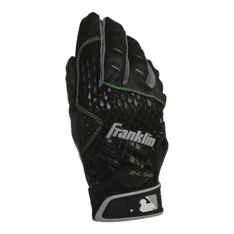 FRANKLIN BATTING GLOVE 2ND SKINZ BLACK