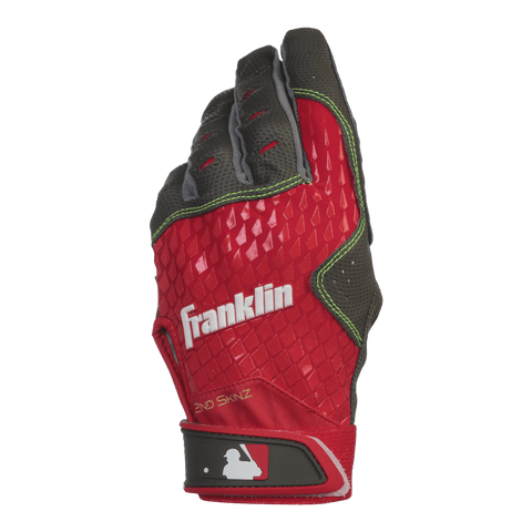 FRANKLIN BATTING GLOVE 2ND SKINZ RED