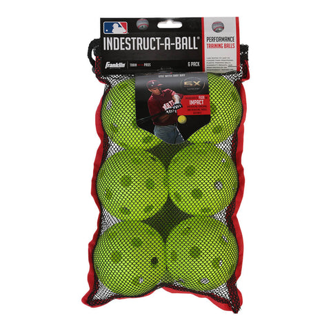 FRANKLIN INDESTRUCT-A-BALL 12 INCH OPTIC WIFFLE SOFTBALL
