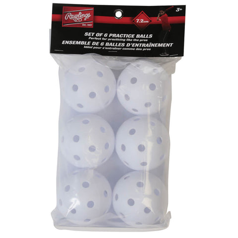RAWLINGS SET OF 6 MEDIUM SIZE BALLS