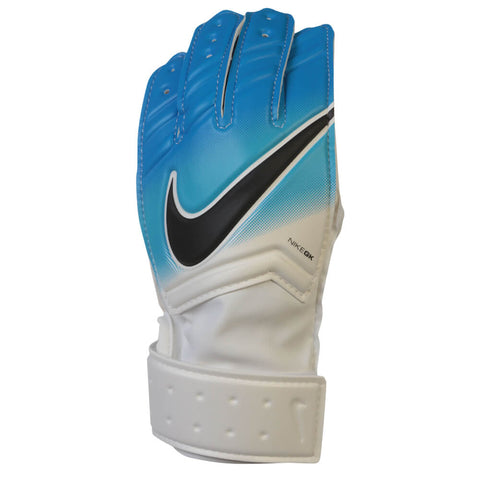 NIKE JR GK MATCH GOAL GLOVES WHITE/BLUE