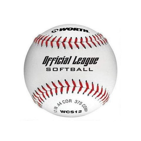 WORTH OFFICIAL LEAGUE SOFTBALL 12 INCH WHITE