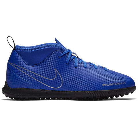 NIKE JR PHANTOM VSN CLUB DF TURF SOCCER CLEAT
