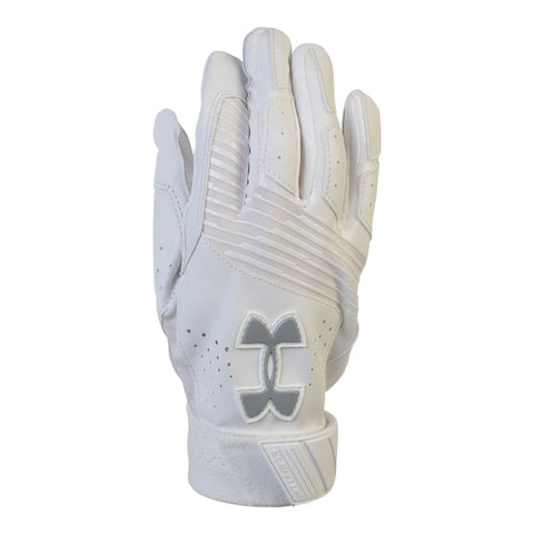 UNDER ARMOUR YOUTH BATTING GLOVE CLEAN-UP VI WHITE