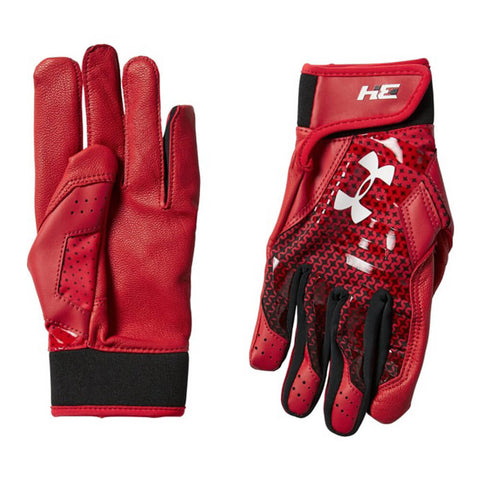 UNDER ARMOUR YOUTH BATTING GLOVE BH34 HARPER HUSTLE RED