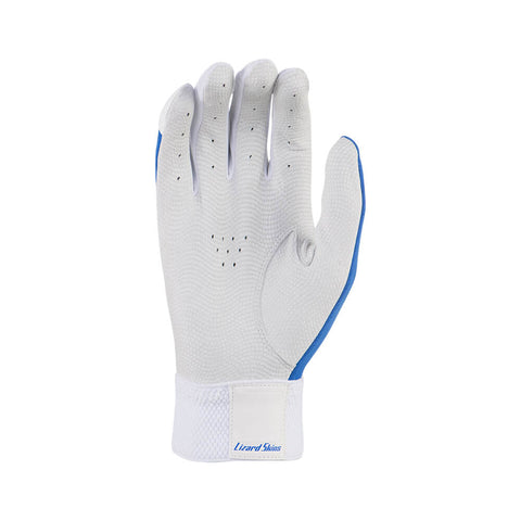 LIZARD SKINS YOUTH KOMODO WHITE /LIQUID BLUE BATTING GLOVE