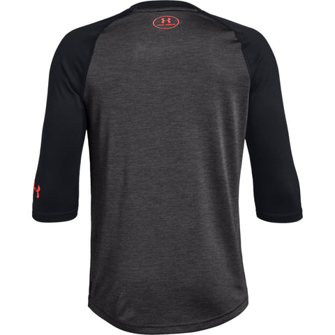 UNDER ARMOUR YOUTH 3/4 SLEEVE BLACK BASEBALL T-SHIRT