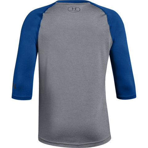 UNDER ARMOUR YOUTH 3/4 SLEEVE ROYAL BASEBALL T-SHIRT