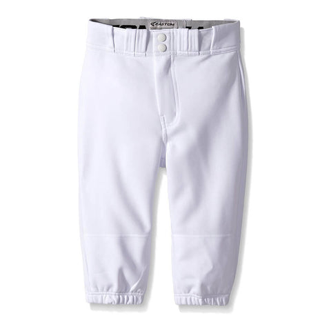 EASTON YOUTH PRO+ KNICKER WHITE BASEBALL PANT