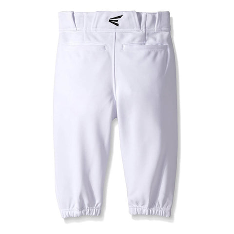 EASTON YOUTH PRO+ KNICKER WHITE BASEBALL PANT BACK