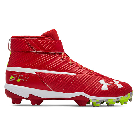 UNDER ARMOUR MEN'S HARPER 3 MID RM RED/WHITE BASEBALL CLEAT