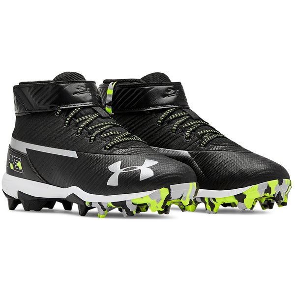 new style af3aa 98f4b UNDER ARMOUR JUNIOR HARPER 3 MID RM BLACK WHITE BASEBALL CLEAT – National  Sports