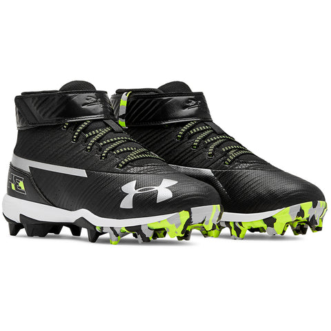 UNDER ARMOUR JUNIOR HARPER 3 MID RM BLACK/WHITE BASEBALL CLEAT