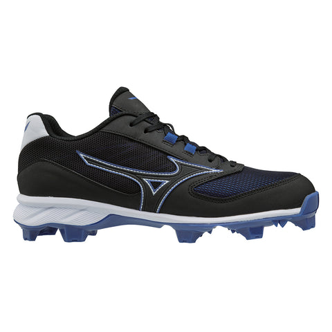 MIZUNO MEN'S 9-SPIKE ADVANCED DOMINANT TPU LOW BASEBALL CLEAT BLACK/ROYAL