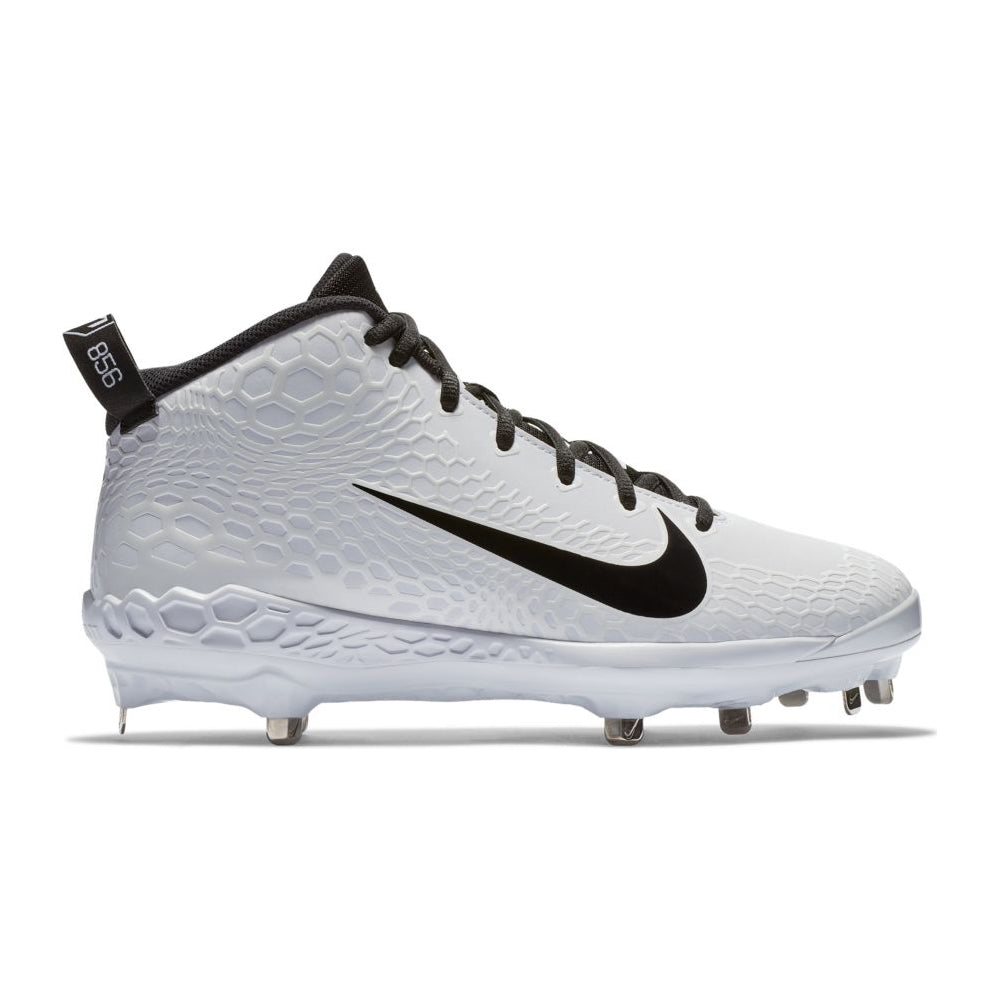 fe0aa371c708 NIKE MEN S FORCE ZOOM TROUT 5 PRO BASEBALL CLEAT WHITE BLACK ...