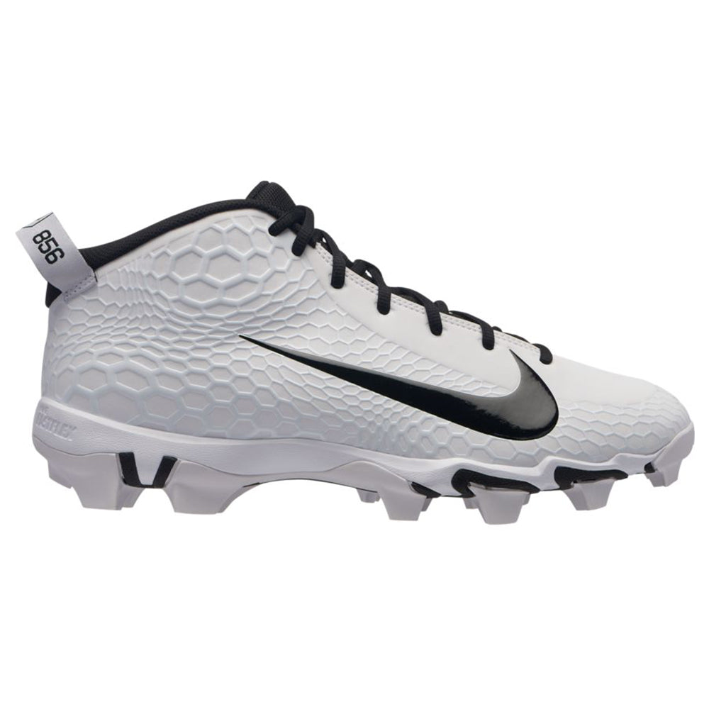 c88222e5bbbb NIKE MEN S FORCE TROUT 5 PRO KEYSTONE BASEBALL CLEAT WHITE BLACK ...