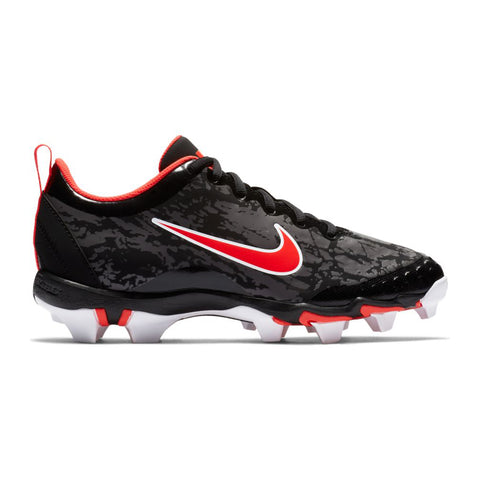 NIKE WOMEN'S HYPERDIAMOND 2.5 KEYSTONE BLACK/PERSIAN VIOLET BASEBALL CLEAT
