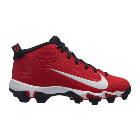 49c252639 NIKE JUNIOR AIR FORCE TROUT 5 PRO KEYSTONE RED WHITE BASEBALL CLEAT ...