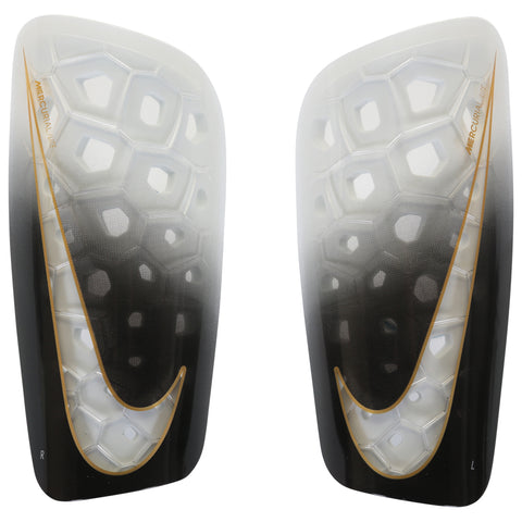 NIKE MERCURIAL LITE WHITE/GOLD SOCCER SHINGUARD