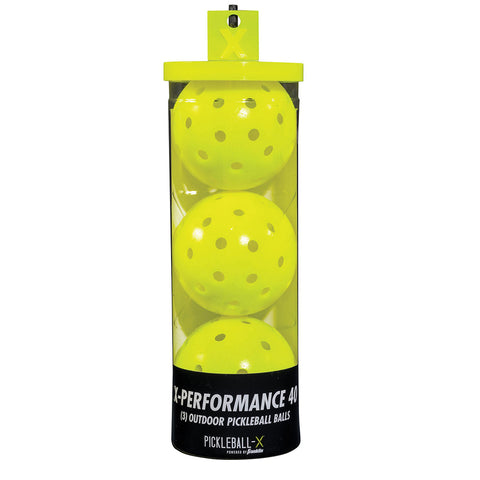 FRANKLIN X-40 OPTIC YELLOW PICKLEBALL 3-PACK