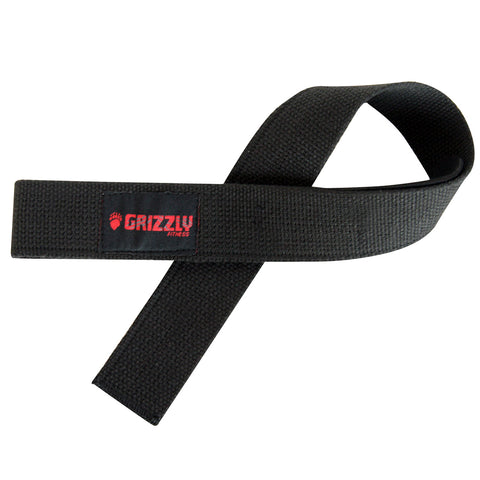 GRIZZLY PADDED BLACK LIFTING STRAPS
