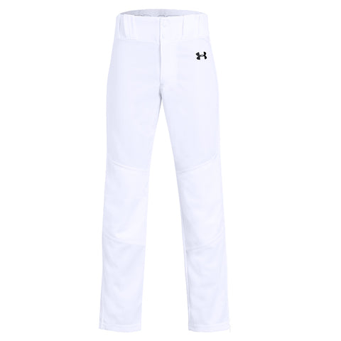 40fc2400c068 UNDER ARMOUR YOUTH UTILITY RELAXED WHITE BASEBALL PANT