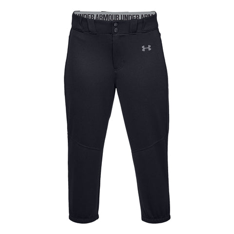 UNDER ARMOUR WOMEN'S CROPPED BLACK SOFTBALL PANT