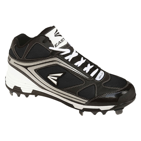 EASTON MEN'S PHANTOM MID BLACK / SILVER METAL BASEBALL CLEAT