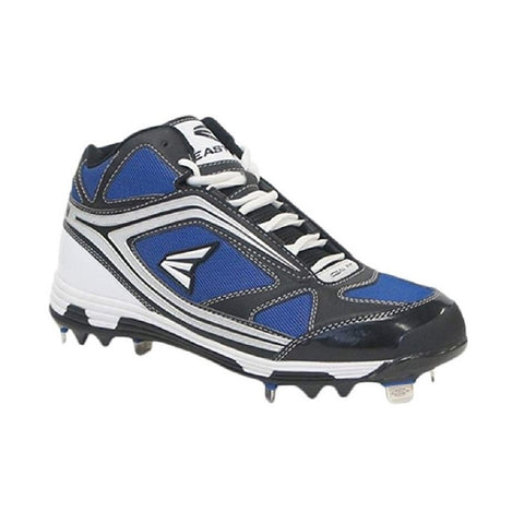 EASTON MEN'S PHANTOM MID BLACK / BLUE METAL BASEBALL CLEAT