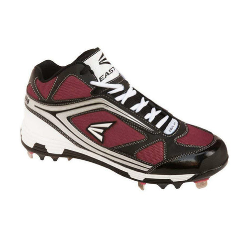 EASTON MEN'S PHANTOM MID BLACK / RED METAL BASEBALL CLEAT