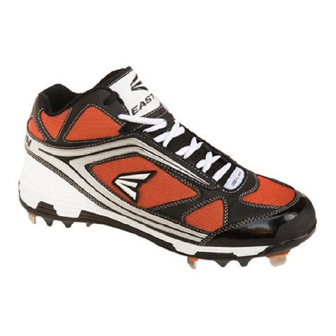EASTON MEN'S PHANTOM MID BLACK / ORANGE METAL BASEBALL CLEAT