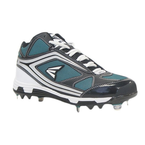 EASTON MEN'S PHANTOM MID BLACK / GREEN METAL BASEBALL CLEAT
