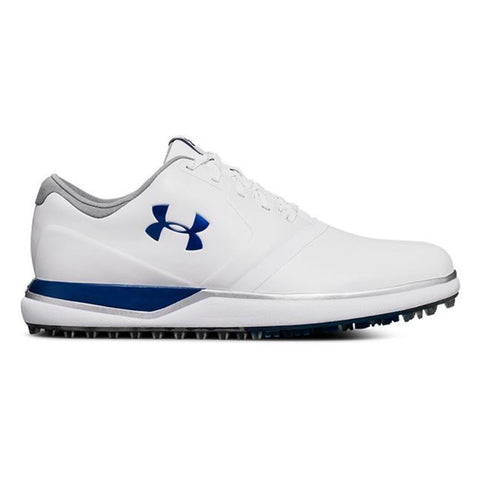 UNDER ARMOUR WOMEN'S PERFORMANCE SL WHITE MOROCCAN BLUE GOLF SHOE