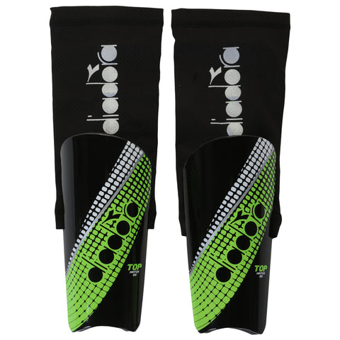 DIADORA TOP MATCH BLACK/YELLOW  SOCCER SHINGUARD