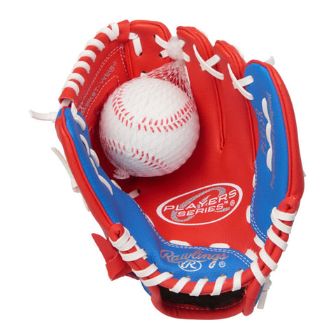 RAWLINGS BOYS PLAYER SERIES 9 INCH BASEBALL GLOVE WITH BALL