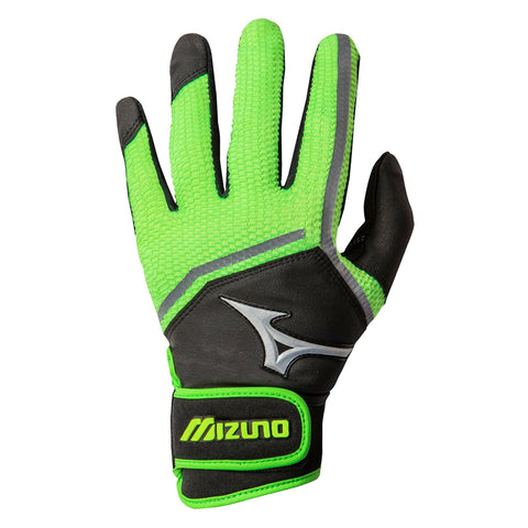 MIZUNO WOMENS FINCH BLACK/ OPTIC/SULPHUR BATTING GLOVE