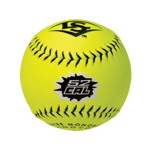 LOUISVILLE NSA 52CAL COR52/300LB OPTIC 12 INCH SOFTBALLS 1 DOZEN