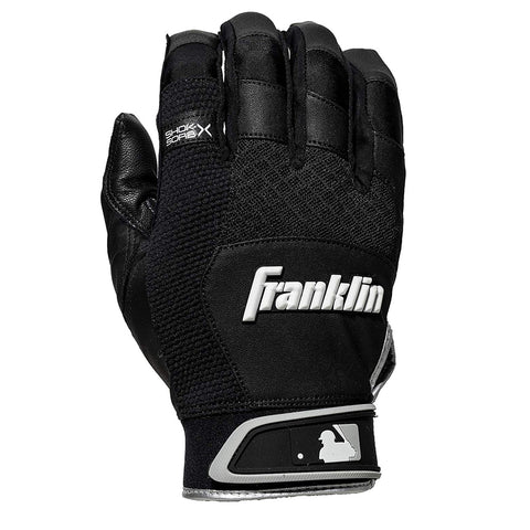 FRANKLIN SHOK-SORB BLACK BATTING GLOVE