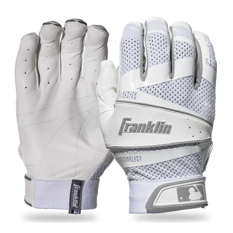 FRANKLIN WOMENS FASTPITCH FREEFLEX WHITE BATTING GLOVE