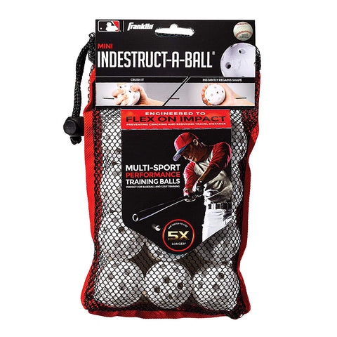 FRANKLIN INDESTRUCT-A-BALL BASEBALL MINI 12 PACK WHITE